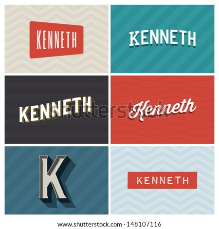 Kenneth name logo