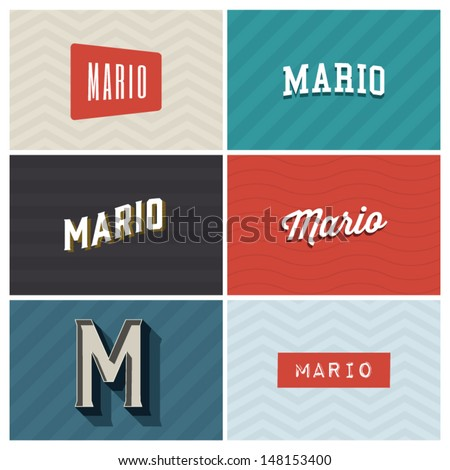 name mario  graphic design