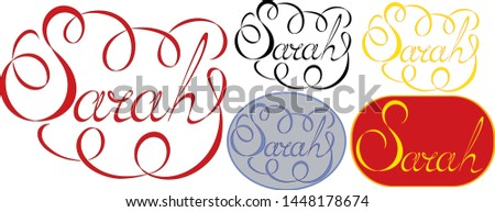 name sarah  made in the vector