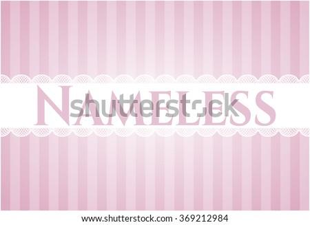 nameless card or banner