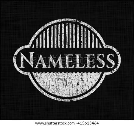 nameless chalkboard emblem on