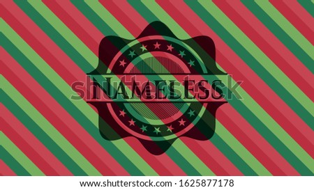 nameless christmas style badge