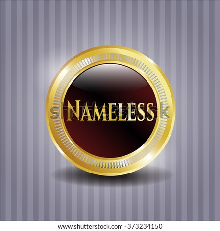 nameless gold shiny emblem