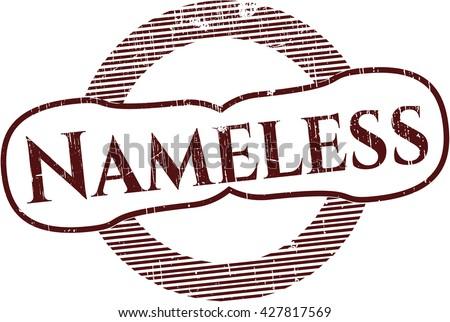nameless grunge style stamp