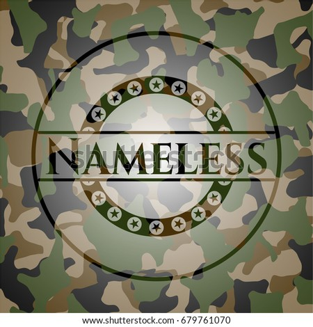 nameless on camo texture