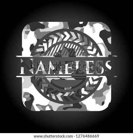nameless on grey camo texture