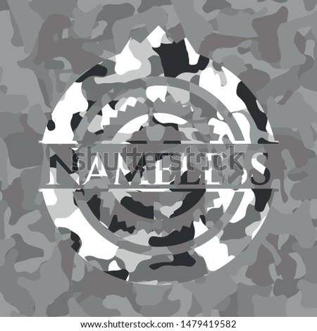 nameless on grey camouflaged