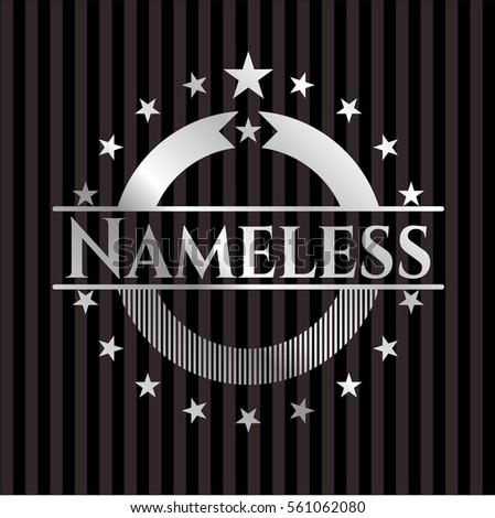 nameless silver shiny badge