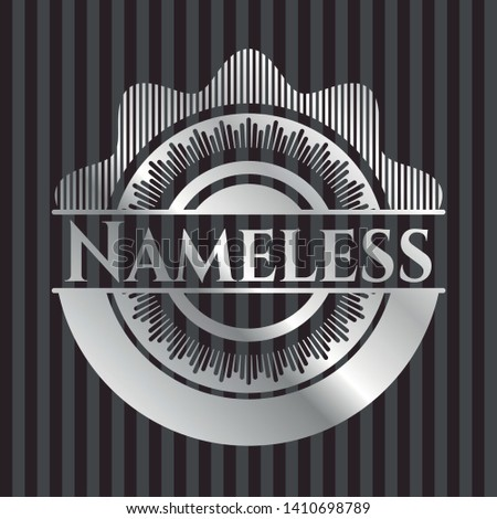 nameless silvery badge or