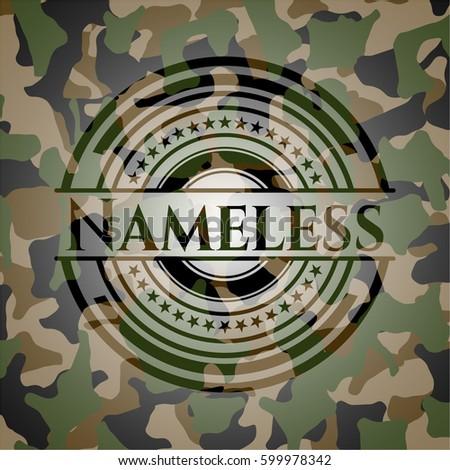 nameless written on a
