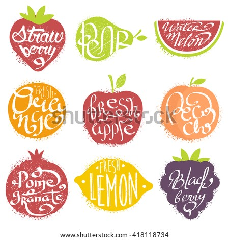 names of fruits in fruit shaped