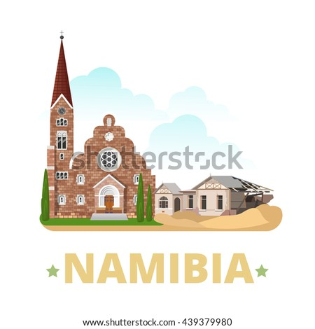 namibia country magnet design