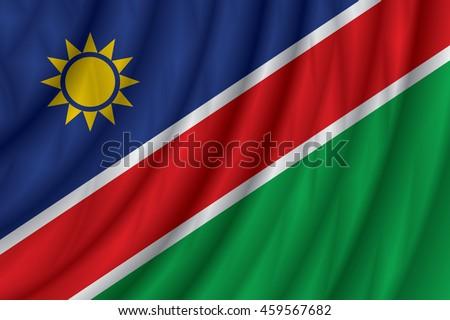 Namibia flag vector illustration.