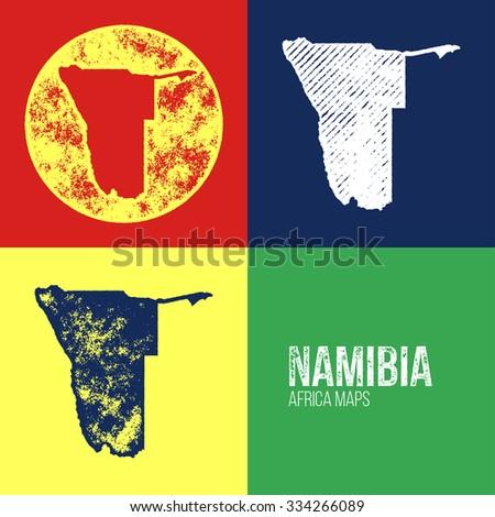 namibia grunge retro maps