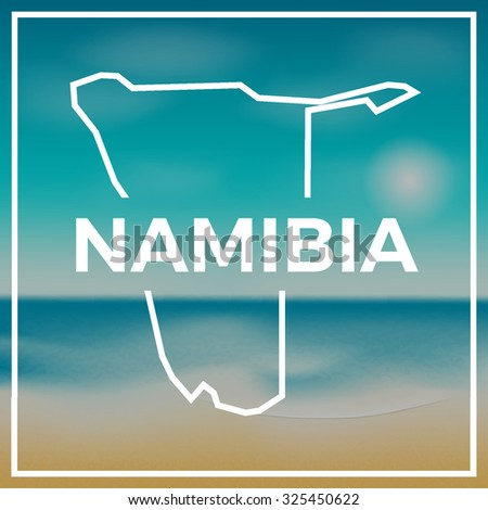 namibia map against the