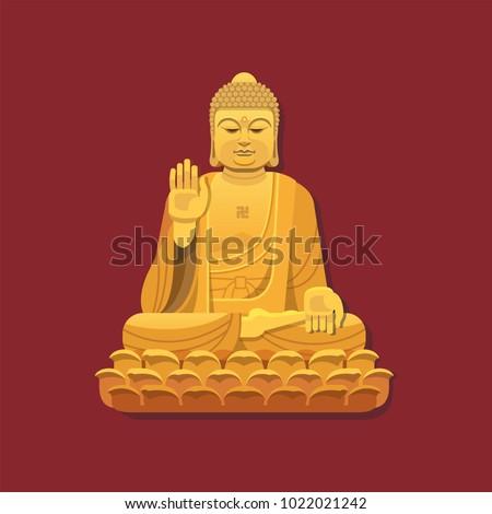 nanshan buddha statue vector