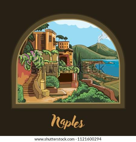 naples  campania  italy vector
