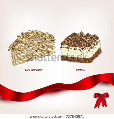 napoleon cake and tiramisu for