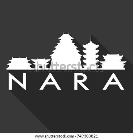 nara flat icon skyline