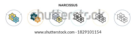 narcissus icon in filled  thin