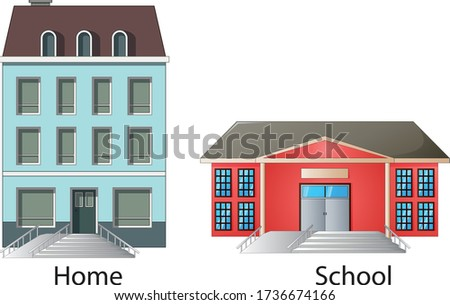 Narrow and Large disabled ramp. Science. - Vector Stockfoto ©