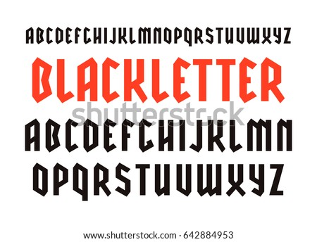 narrow sanserif font in black