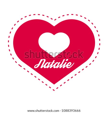 natalie woman name with heart