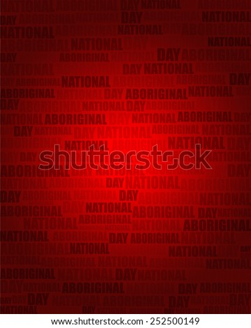 National Aboriginal Day with same text on red gradient background.