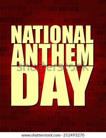 National Anthem Day with same text on red gradient background.