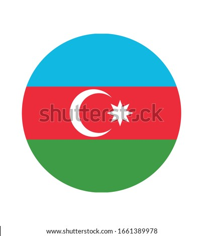 National Azerbaijan flag, official colors and proportion correctly. National Azerbaijan flag. Vector illustration. EPS10. Azerbaijan flag vector icon, simple, flat design for web or mobile app.
