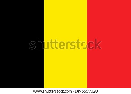 National Belgium flag. Simple flat vector illustration eps10