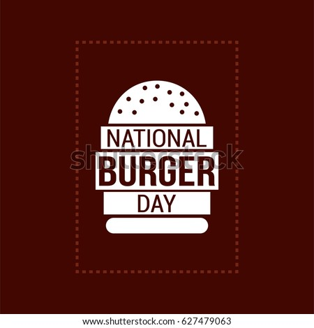national burger day vector