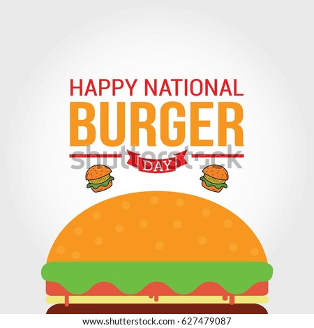 national burger day vector