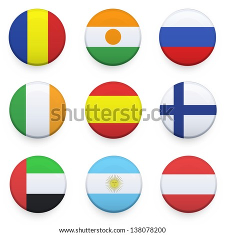 national button design vector
