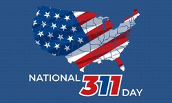 National 311 Day, March 11 th, offers an annual reminder that 311 is a resource for communities around the country to connect with their city and non-emergency services. Vector EPS 10.