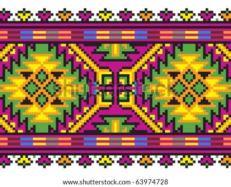 National decorative purple ornaments embroidery