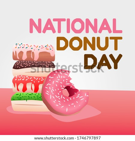 National Donut Day Vector Illustration