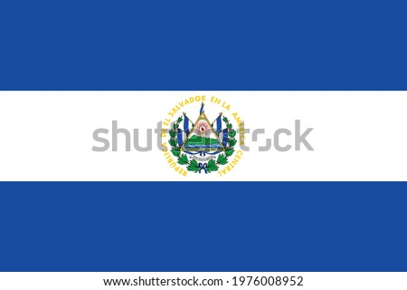 National El Salvador flag, official colors and proportion correctly. National El Salvador flag. Vector illustration. EPS10. El Salvador flag vector icon, simple, flat design for web or mobile app.