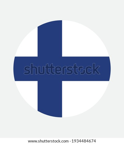 National Finland flag, official colors and proportion correctly. National Finland flag. Vector illustration. EPS10. Finland flag vector icon, simple, flat design for web or mobile app. Stockfoto ©