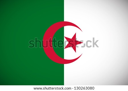 National flag of Algeria with correct proportions and color scheme - stock vector