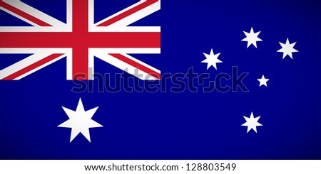 National flag of Australia with correct proportions and color scheme