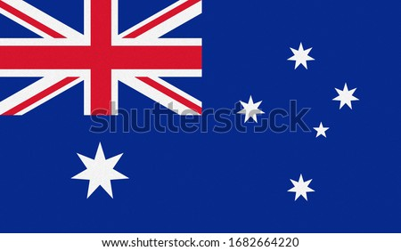 National flag of Australia with paper texture background. Vector illustration. Eps10