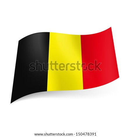 national flag of belgium  black