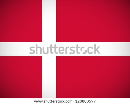 national flag of denmark with
