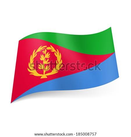National Flag Green White Red National Flag of Eritrea Red