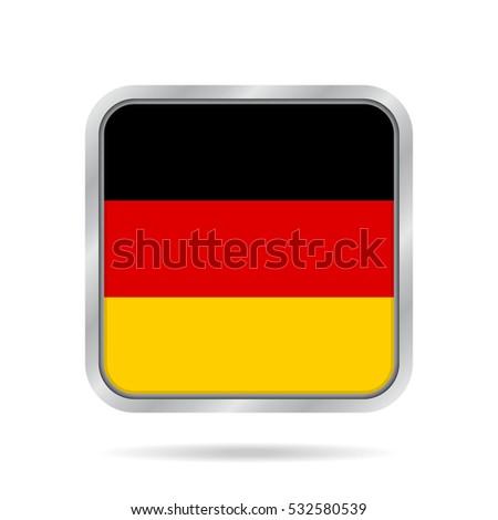 national flag of germany shiny