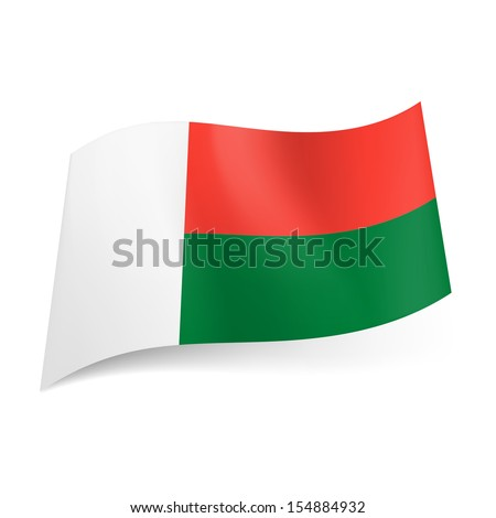 National Flag Green White Red White Band Red And Green