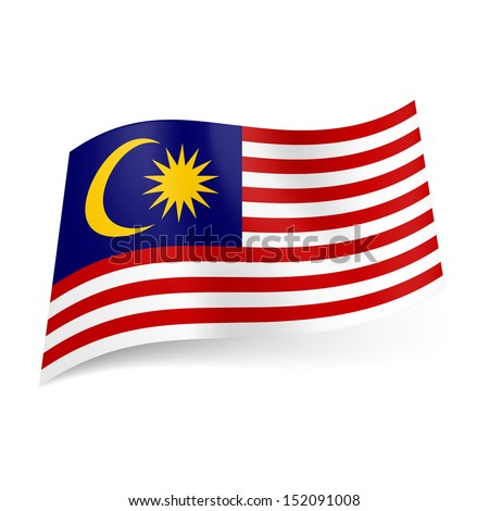 National Flag Green White Red National Flag of Malaysia Red
