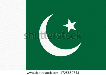 National flag of Pakistan with paper texture background. Vector illustration. Eps10