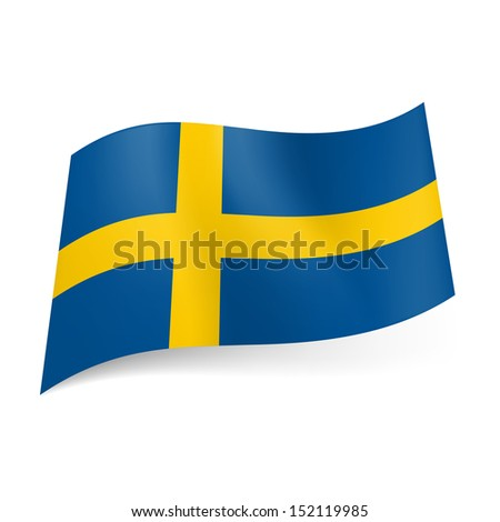 national flag of sweden  yellow